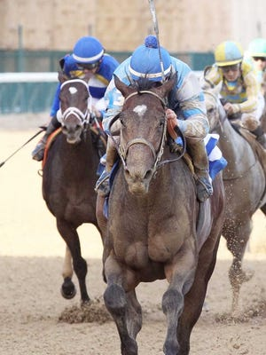 Albaugh Family Stables' Hollywood Star, shown winning his first start Wednesday at Churchill Downs under Robby Albarado, is under consideration for the $75,000 Ellis Park Juvenile on Aug. 20.