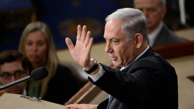 Benjamin Netanyahu, Prime Minister of Israel, addresses a joint meeting of Congress on March 3, 2015.