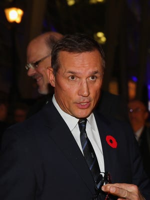 Steve Yzerman of the Tampa Bay Lightning walks the red carpet prior to the 2015 Hockey Hall of Fame Induction Ceremony at Brookfield Place on November 9, 2015 in Toronto.