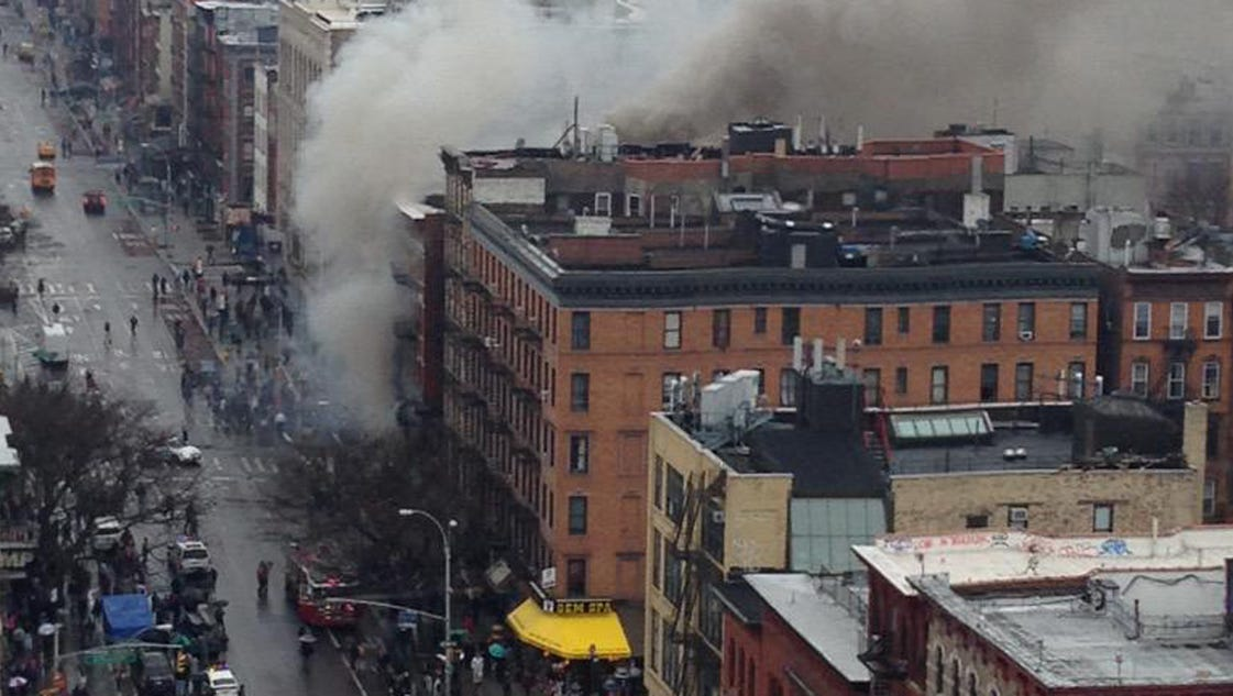 Explosion building collapse in manhattan 39 s east village for Things to do in manhattan today