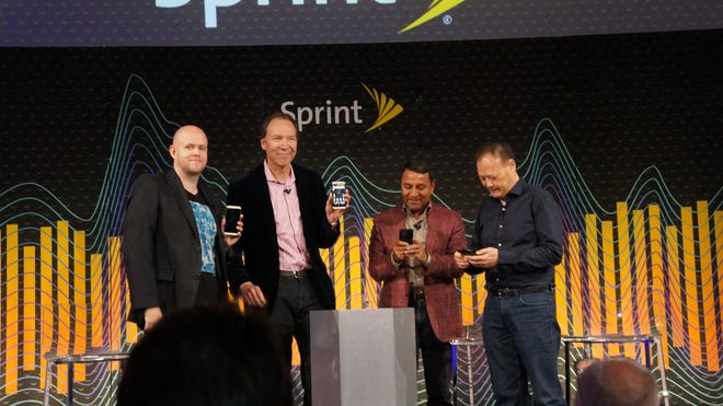 Sprint CEO Dan Hesse is joined by CEOs of Spotify, Harman and HTC as it unveils a custom version of the HTC One (M8) for audiphiles.