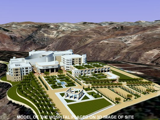 DeWolff architectural rendering of the King Hussein Institute for Biotechnology and Cancer near Amman, Jordan.