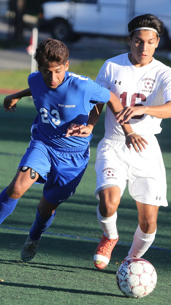 Port Chester defeated Ossining 5-2 in a varsity soccer