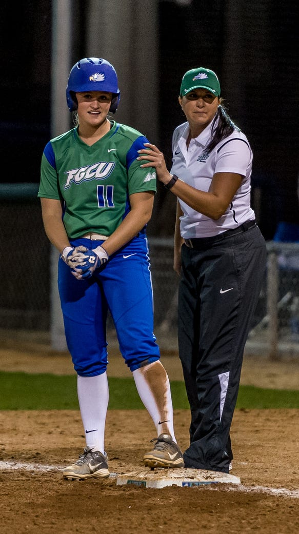 Erika Bennett, right, has been hired by the UTEP softball