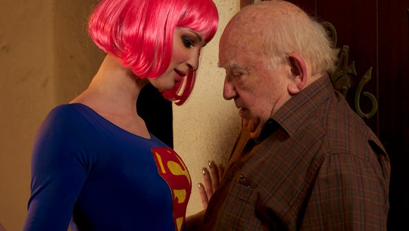 """Ruby Modine and Edward Asner in a scene from """"Super"""