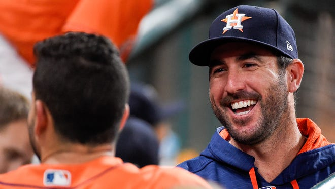 """""""i'm excited about my new family,"""" Justin Verlander said Sunday."""