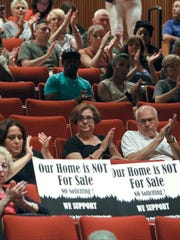 """The New York Department of StateÕs Division of Licensing Services held a public meeting at Rockland Community College Sept. 21, 2016. The state is considering establishment of a """"cease and desist zone"""" to prohibit blockbusting tactics of real estate agents."""