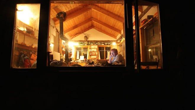 Steve Meurett enjoyed time in a friend's cabin near Rhinelander.