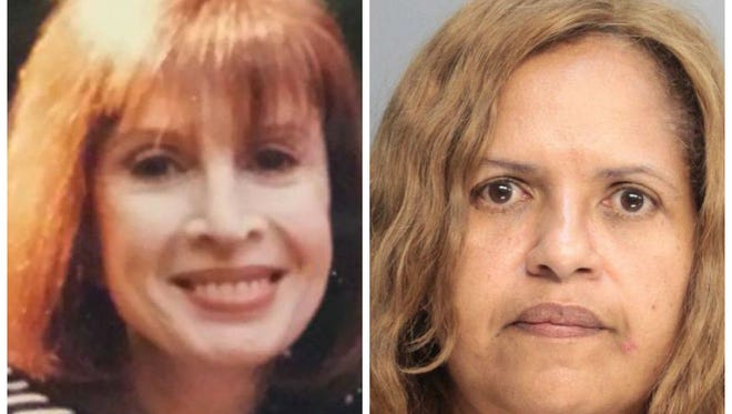 Homicide victim Peggy Nadell, left, and her daughter-in-law Diana, right, who has been charged in her fatal stabbing.