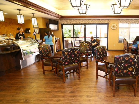 The Monterey Bistro is open-to-the-public at Sante of Surprise on May 7, 2018 in Surprise, Ariz. Sante of Surprise is a short-term rehab facility for elderly patients.