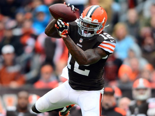 Browns wide receiver Josh Gordon had 10 catches for a franchise record 261 yards and two touchdowns last week, becoming the first NFL player to have consecutive 200-yard receiving games.