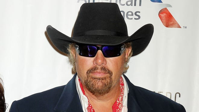 Toby Keith at Songwriters Hall of Fame 2015 induction gala, on Thursday, June 18, 2015, in New York.
