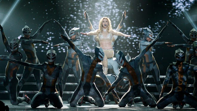Britney Spears in concert in Las Vegas during a preview on Dec. 26, 2013.