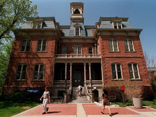 Morrill Hall was the first building erected on the
