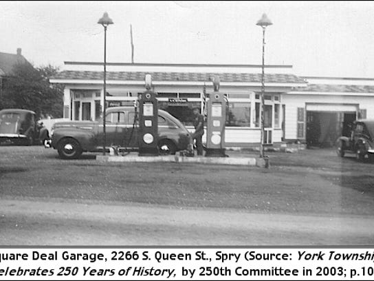 Square Deal Garage was a service station at the location