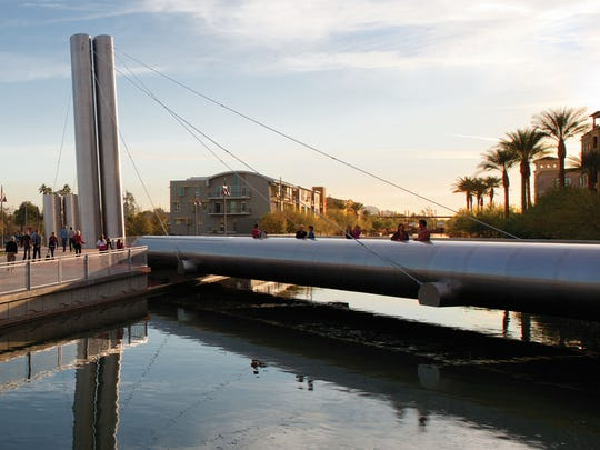 Scottsdale has 231 bridges within the city, including Soleri Bridge on the Scottsdale Waterfront that opened in 2010.