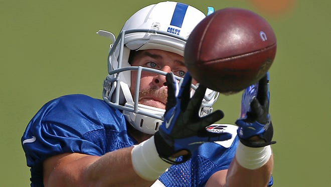 Former Purdue standout Danny Anthrop is among a flock of Colts receivers looking to impress in the preseason.