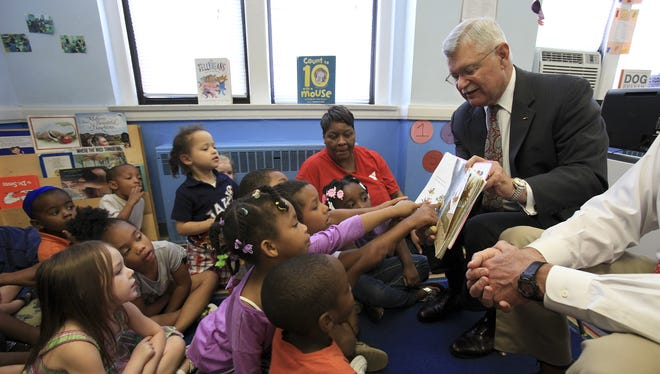 In this 2013 file photo,  Robert S. Silverthorn Jr. is seen reading to a preschool class at the downtown YMCA.