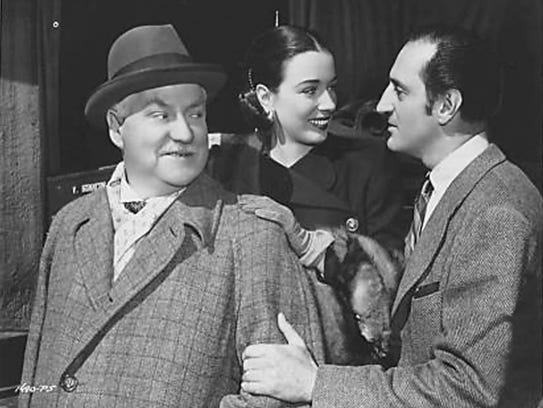 Nigel Bruce, Patricia Morison and Basil Rathbone on