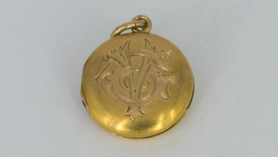 A locket that belonged to Titanic passenger Virginia Estelle McDowell Clark.