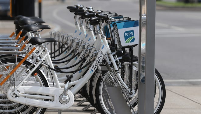 Rochester's bike share program debuted in 2017 as Zagster. The program now is called Pace.