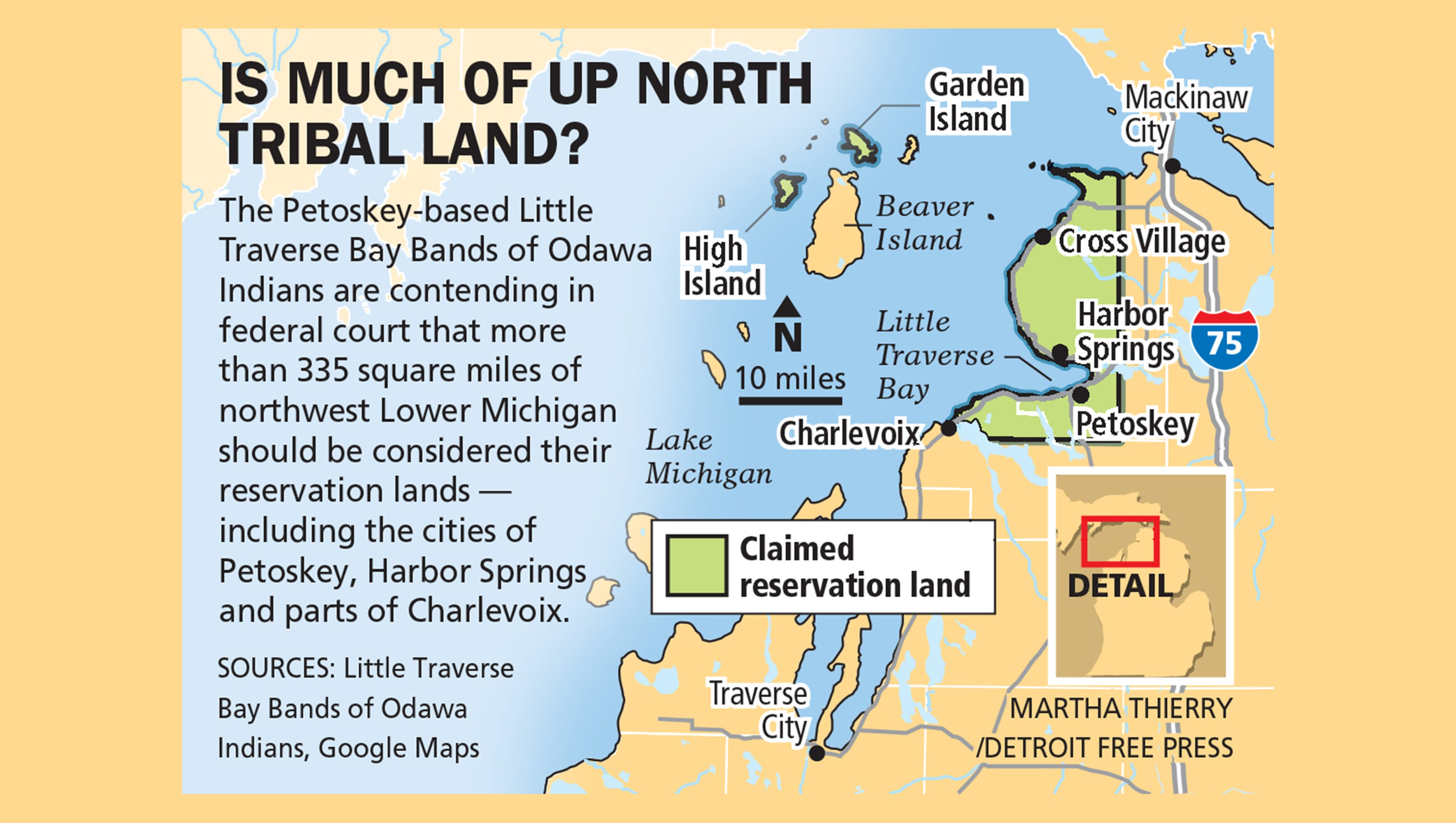 Indian Tribe Bids To Make Big Chunk Of Up North Michigan A Reservation