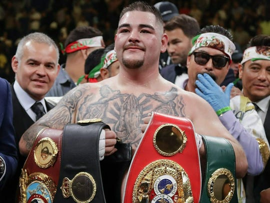 Andy Ruiz is confident he'll retain the title belts he took from Anthony Joshua in their first fight when they meet again on Dec. 7. AP Photo / Frank Franklin II, File