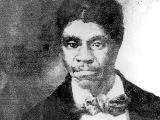 The photograph taken in the 1800s of slave Dred Scott