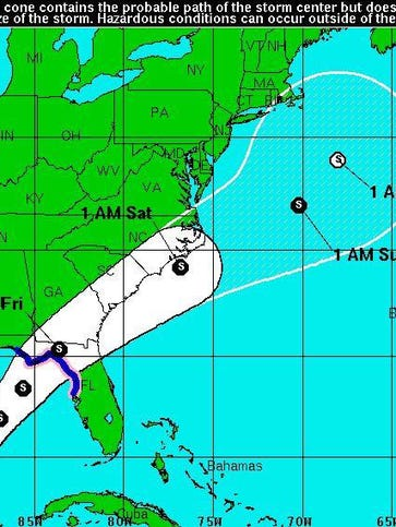 The 7 a.m. forecast track