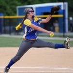 NewCath Pitcher Haley Meyers delivers a fast ball.