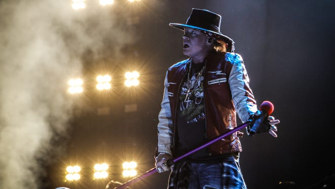 Guns N' Roses played the Milwaukee area for the first time in 26 years on Nov. 7, 2017. The show, with the band's signature guitarist Slash back in the fold, spanned three-and-a-half hours.