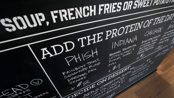 The menu changes often, at Public Greens in Broad Ripple, Tuesday, February 3, 2015.