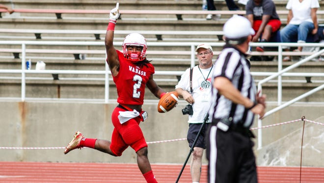 Wabash's Brian Parks intercepted three passes earlier this season against Wittenberg, including one   he returned 30 yards for a touchdown to set a school record and earn Division III national player of the week.