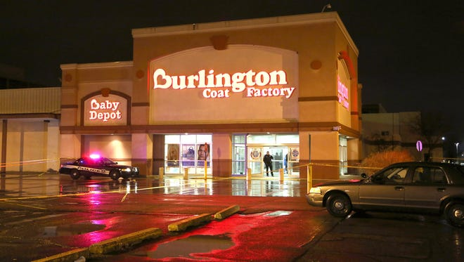 A shooting happened inside the Burlington Coat Factory store at Eastland Center in Harper Woods on Saturday, December 26, 2015.