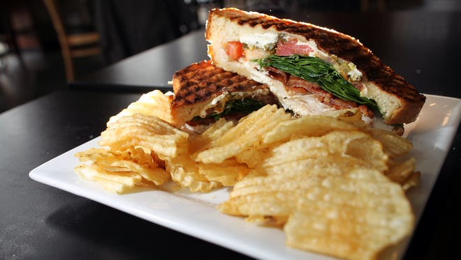 High Ground Cafe's turkey bacon panini is pictured on Tuesday, March 22, 2016.