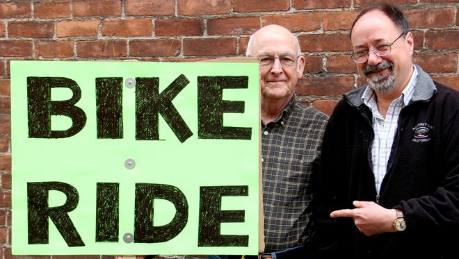 Larry Lewis, left, and Chris Sielicky, Adult Congenital Heart Association Bicycle Ride.