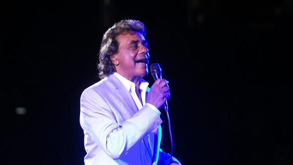 Johnny Mathis performs at the Celebrity Theatre last