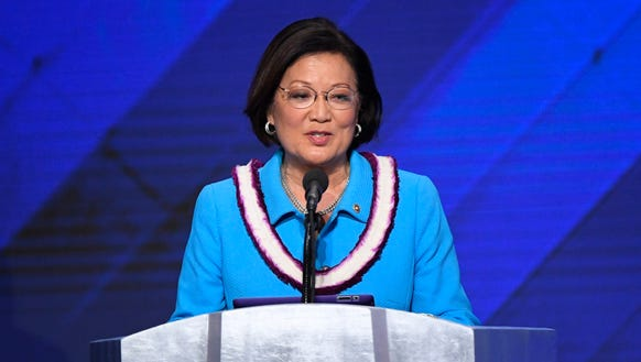 Sen. Mazie Hirono, D-HI, speaks during the 2016 Democratic