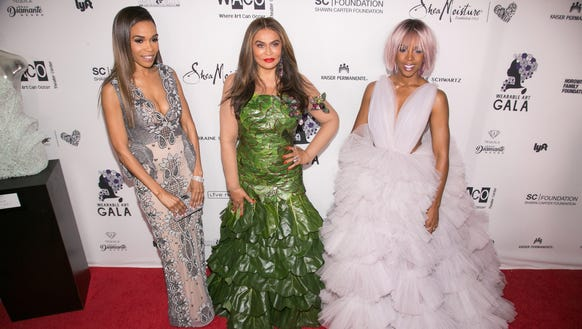 Beyoncé's mom Tina Lawson, center, is surrounded by