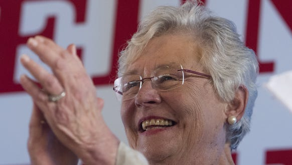 Gov. Kay Ivey is all smiles as the city of Camden and