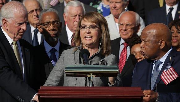 Former Congresswoman and gun violence victim Gabby