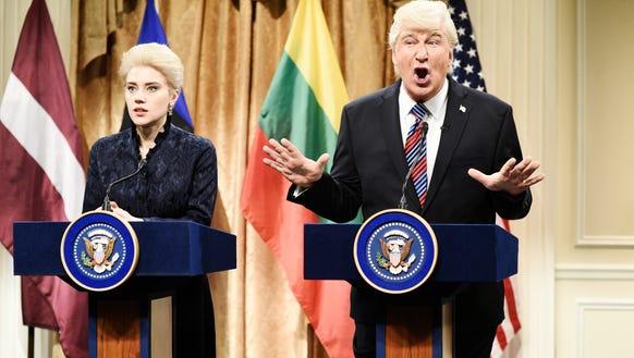 "Alec Baldwin returned to ""Saturday Night Live"" as President"