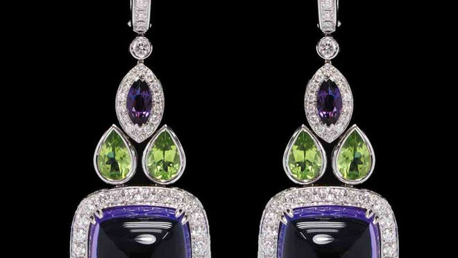 Sugarloaf amethyst earrings from the Brooke Shield's line
