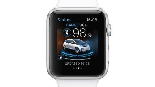 BMW's Apple Watch app will let drivers know if their plug-in car has a full charge.