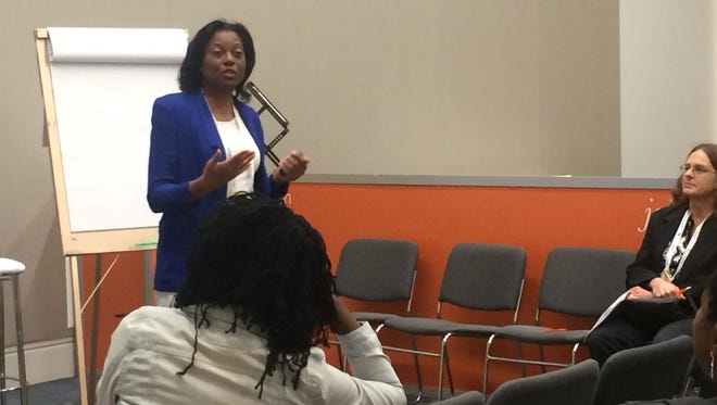 Cheryl Palmer, owner of Call to Career in Fayetteville, Georgia, spoke at a meeting of the American Society of Association Executives. She maintains that many job seekers severely undermine themselves.