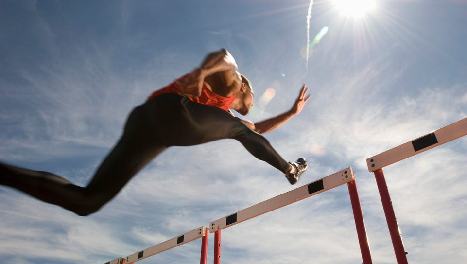 Hurdling is a sport potential home buyers could take