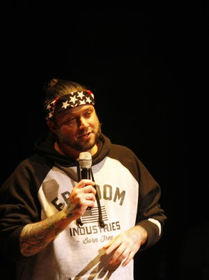 Dustin Staggers, local eatery mogul; he started Roux and The American Diner, talked of working non-stop and being exhausted but refreshed by seeing people enjoy his food at the Louisville Storytellers November 16.  Staggers abruptly closed America. The Diner. March 27.