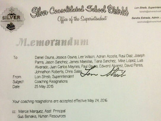 A copy of the letter of acceptance from coaches that