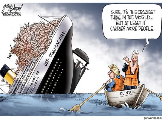 Cartoonist gary varvel bill clinton calls obamacare 39 crazy 39 for 506 salon indianapolis