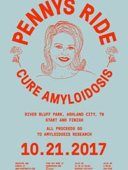 Penny's Ride for the Cure of Amyloidosis takes place